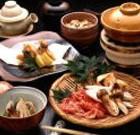 「松茸づくし会席」 秋には地元の松茸を使った「松茸づくし会席」も御用意しております。 (9月中旬から10月中旬)