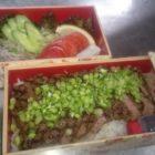 信州牛のステーキ弁当2,700円税別(二段)各種御弁当はお届けもできます。