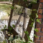 ナチュラルウエディングをご希望の方におススメのウェルカムボード。(装花のみ)