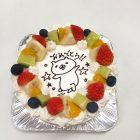 デコレーションケーキはフルーツの飾りが基本になっています。5号サイズのデコレーションケーキから、簡単なイラストを描くことができます。