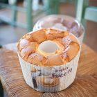 シフォンケーキには青見平のたまご屋さんの卵と、長野県産の小麦粉、オイルは太白胡麻油を使っています。