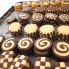 クッキーの定番になっているモザイククッキーです。 開店当初から人気があります。