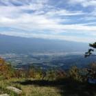 頂上からの眺め。松川町、高森町方面。