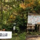 新登山道は向かって右。