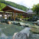「ひまわりの湯」自慢の庭園露天風呂。